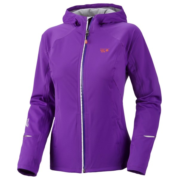 Mountain Hardwear Effusion Dry.Q Active Hooded Soft Shell Jacket Waterproof (For Women)