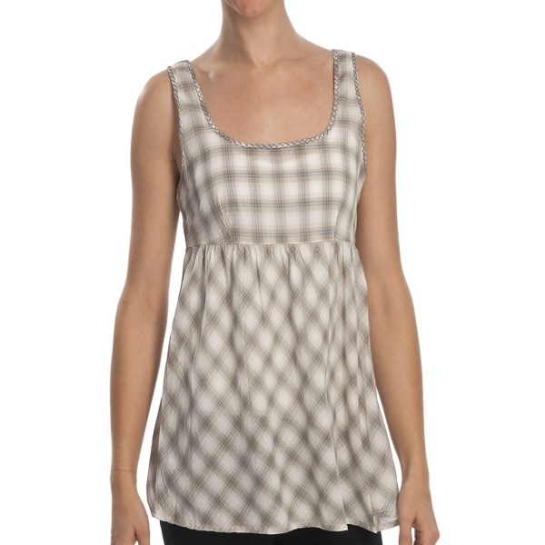 Stetson Yarn-dyed Ombre Plaid Babydoll Shirt - Sleeveless (for Women)