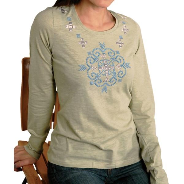 Roper Cotton Slub Jersey T-Shirt - Scoop Neck, Long Sleeve (For Women)