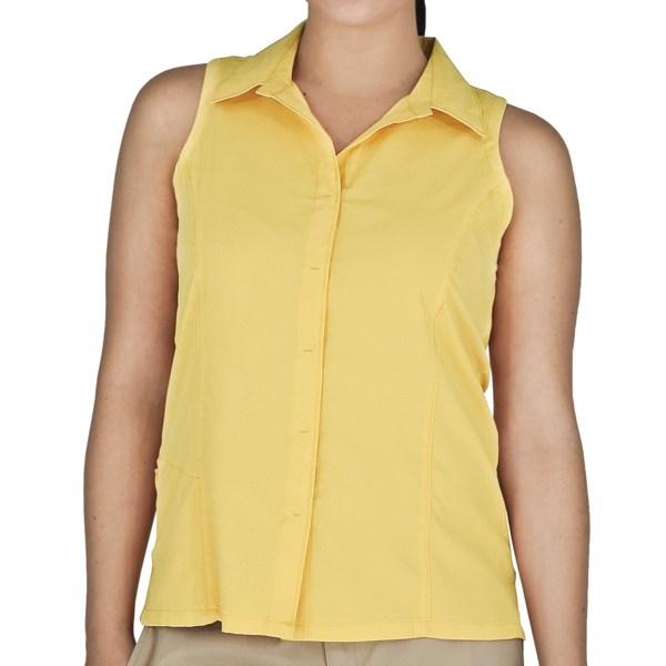 Royal Robbins LT Expedition Shirt   UPF 50+  Sleeveless (For Women)   PESTO (M )