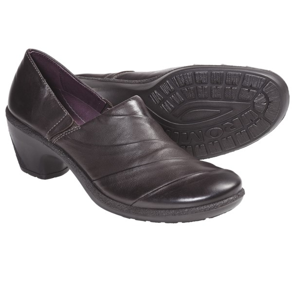CLOSEOUTS . A really nice-looking pump with soft sweeps of leather adding feminine flair, Romika's Lyon 09 slip-on shoe is a super-comfortable career-girl shoe with a lightweight moderate heel. Available Colors: BLACK, VOLCANO. Sizes: 36, 37, 38, 39, 40, 41, 42.