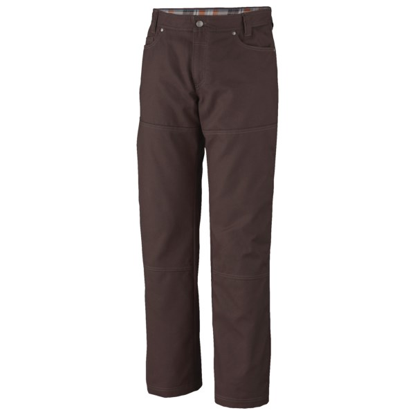 CLOSEOUTS . A terrific cold-weather pant for work or play, Columbia Sportswear's Noble Falls utility pants feature exclusive Omni-Heatand#174; system that reflects and retains the body's natural heat. Available Colors: BLACK, PEATMOSS, TUSK, CATTAIL, BLACK CORD, PEATMOSS CORD, TRAIL TWILL, GRILL TWILL.