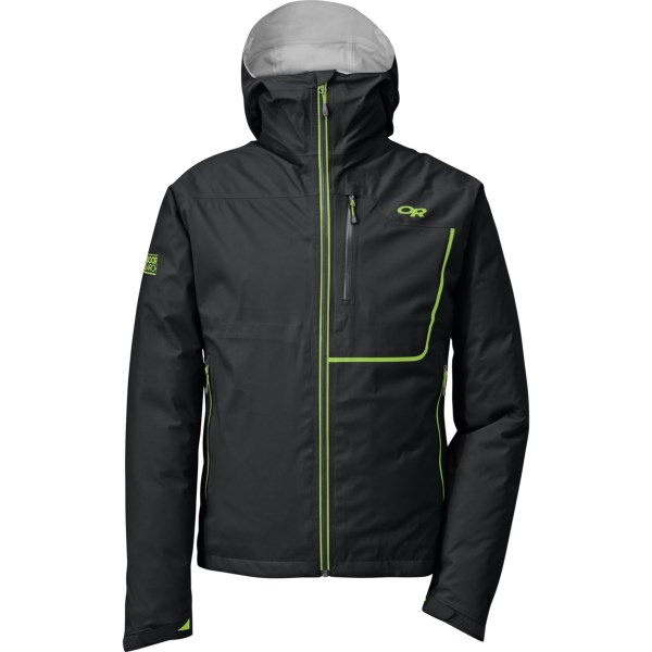 CLOSEOUTS . Featuring the streamlined performance of Gore-Texand#174; Active, Outdoor Research's Axiom jacket supplies exceptional breathability in addition to waterproof breathable protection for alpine climbs and other aerobic endeavors. Available Colors: EMBER/CHARCOAL, LEMONGRASS/EVERGREEN, BLACK/LEMONGRASS, HOT SAUCE/CHARCOAL. Sizes: S, M, L, XL, XS, 2XL, 2XS.
