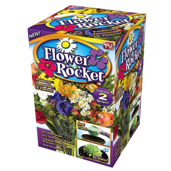 CLOSEOUTS . An ingenious way to plant a whole summer of never-ending blooms, Garden Innovations' Flower Rocket is a biodegradable seed pack containing more than 2000 seeds and nutrients to sustain growth. Available Colors: SEE PHOTO.