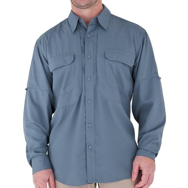 Royal Robbins Expedition Light Shirt   UPF 50+  Long Sleeve (For Men)   HARBOR BLUE (XL )