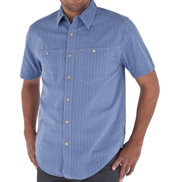 Royal Robbins Cool Mesh Stripe Shirt   Short Sleeve (For Men)   TAUPE (L )