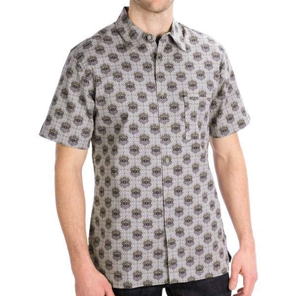 Royal Robbins Topography Print Shirt   Short Sleeve (For Men)   ARCTIC BLUE (XL )