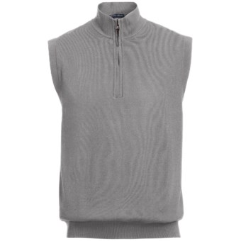 Lux-ID 191291  Chase Edward Golf Sweater Wind Vest - Merino Wool, Zip Neck, Lined (For Men)