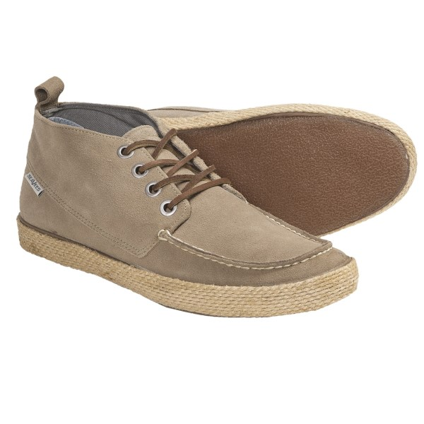 CLOSEOUTS . Stylish enough for deconstructed sport coats and perfect with shorts and jeans, SeaVees' 09/65 Bayside chukka boots are a surprisingly comfortable sneaker with a deeply cushioned footbed. Available Colors: CARBON SUEDE, DRIFTWOOD SUEDE. Sizes: 7, 7.5, 8, 8.5, 9, 9.5, 10, 10.5, 11, 11.5, 12, 13.