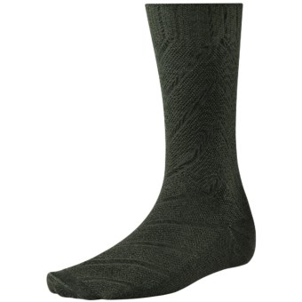 Lux-ID 202438  SmartWool Moss Chevron Socks - Merino Wool, Crew (For Men)