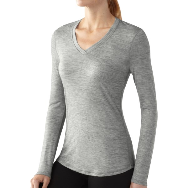 Smartwool Microweight V-Neck Long Sleeve