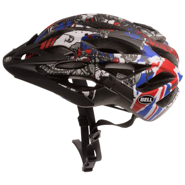 CLOSEOUTS . Bell's Sequence bike helmet follows up a well-ventilated shell with the superb Twin Axis Gear fit system for protection that's well-suited to both road and trail riding. Available Colors: MATTE TITANIUM/JIMBO PHILLIPS, MATTE BRONZE/CHECK, BLACK/RED, MATTE OLIVE GREY/GREEN JIMBO PHILLIPS, ORANGE/SEPIA, WHITE/YELLOW TRIANGLE, MATTE WHITE/TITANIUM/PINK SCATTERED, MATTE WHITE/SILVER LOGOS, MATTE TITANIUM JIMBO PHILIPS WALLPAPER, MATTE BLACK, MATTE RED/BLUE JIMBO, MATTE TONAL JIMBO. Sizes: S, L, M.