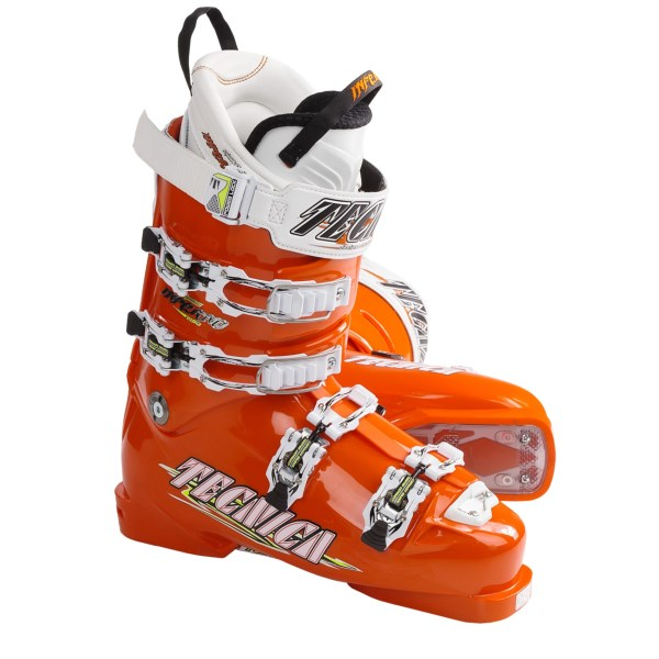 CLOSEOUTS . Stiff and race-ready, Tecnicaand#39;s Diablo Inferno Race alpine ski boots deliver excellent responsiveness and sensitivity, thanks to a dual cuff alignment and Power Chassis boot sole that maximizes edge-to-edge power transmission. Available Colors: ORANGE. Sizes: 6.5, 7.5, 8.5, 9.5, 10.5, 11.5.
