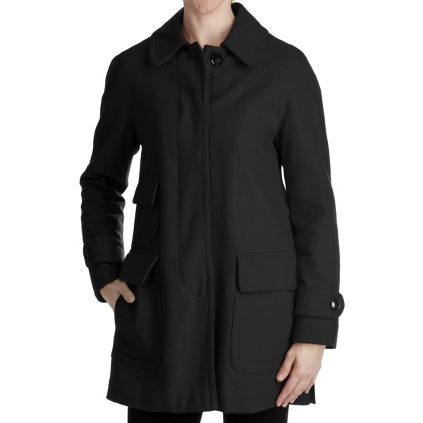 Ellen Tracy Outerwear Fly Front Stadium Coat - Wool Blend (For Plus Size Women)