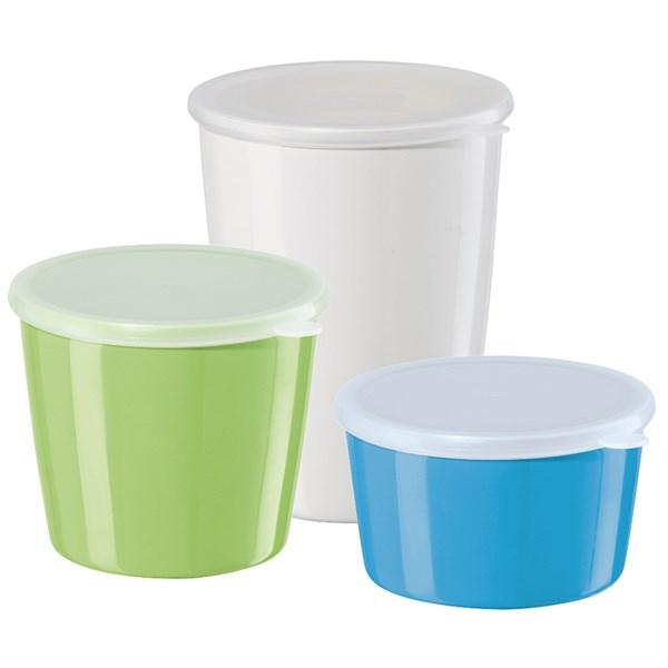 oggi melamine storage containers - 3-piece, airtight lids