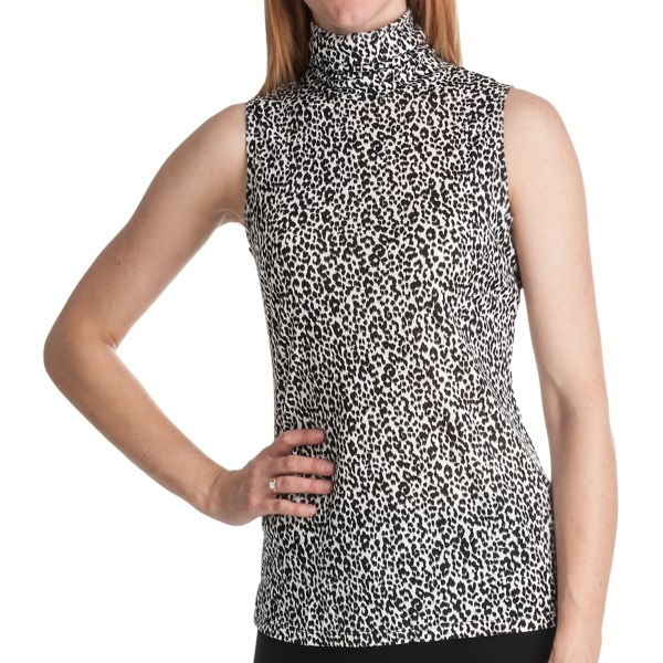 Paperwhite Printed Pullover Shirt - Sleeveless (For Women)