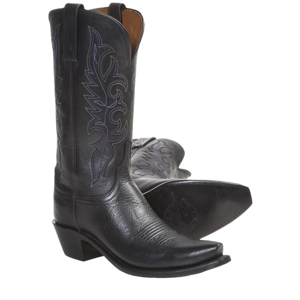 Lucchese Cowboy Boots - Jersey Calf Leather, S54-Toe (For Women)