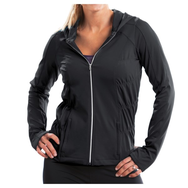 CLOSEOUTS . Just say andquot;noandquot; to suffering through a chilly morning run in a bulky sweatshirt or fleece, and say andquot;yesandquot; to the stylishly flattering and work-out-ready Moving Comfort NoChill hoodie sweatshirt. The smooth exterior with fashionable ruched side baffling, a metallic zip and attached hood protects from wind, and the brushed interior wicks moisture and provides soft warmth. Available Colors: BLACK. Sizes: S, M, L, XL, 1X, 2X.