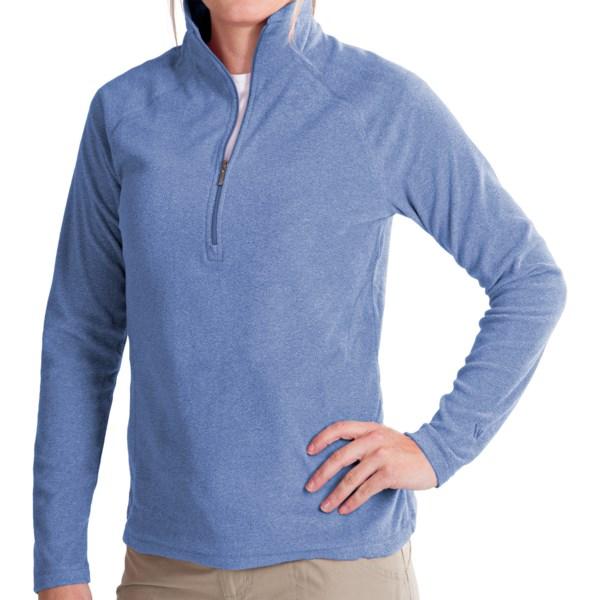 White Sierra Alpha Beta Pullover - Zip Neck, Long Sleeve (For Women)