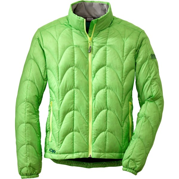 CLOSEOUTS . Lightweight and compressible, Outdoor Research's Aria down jacket delivers the warmth of 650 fill power down for ascents of exposed ridges and when temperatures drop at camp . Available Colors: TRILLIUM, ZIN, EMERALD, ATMOSPHERE, DESERT SUNRISE/MULBERRY, ATLANTIS/AQUARIUM, APPLE/HEMLOCK, ALPINE LAKE/RIO, EGGPLANT, ORCHID/CROCUS, PLUM. Sizes: XXS, XS, S, M, L, XL, 2XL, 2XS.
