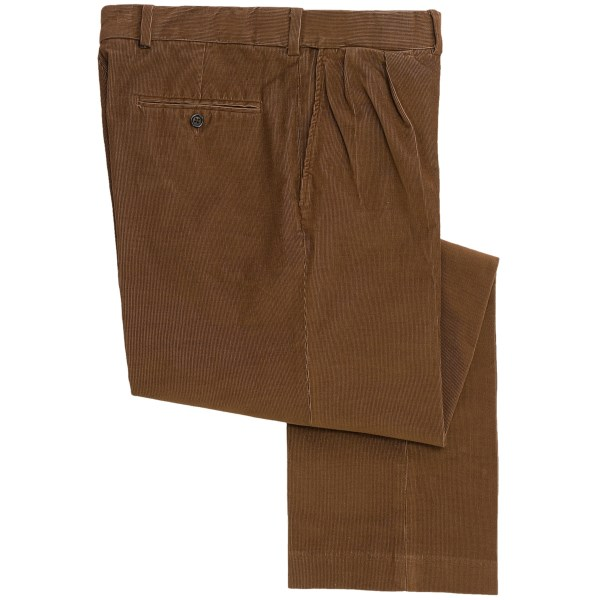18 Wale Corduroy Comfort Waist Pants Pleated (For Men)