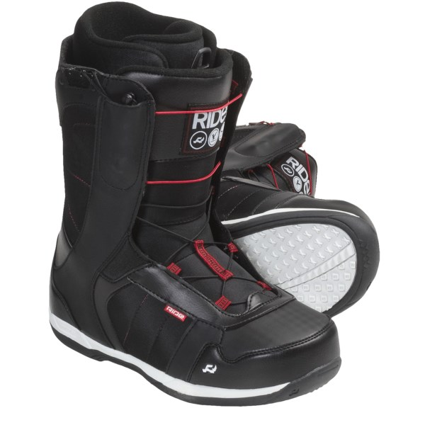CLOSEOUTS . Forgiving flex and the Zonal Speed Lacing system make Ride Snowboards' Flight snowboard boots a great choice for freestyle enthusiasts and all-mountain riders. Available Colors: BLACK, PACIFIC BLUE. Sizes: 9, 9.5, 10, 10.5, 11, 11.5, 12, 13, 14, 15, 7, 8.