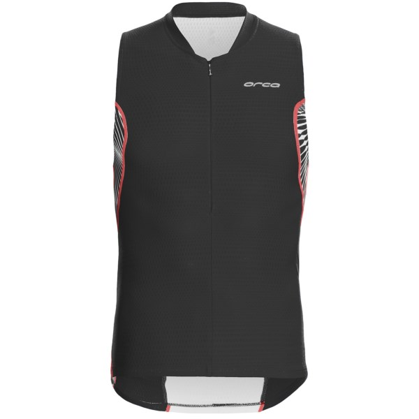CLOSEOUTS . Establish your Ironman cred in Orca's 226 Tri tank top, embedded with nano crystals that pull heat away from your skin, silver ions to manage odor, and moisture-wicking, breathable and quick-drying fabric throughout. Available Colors: BLACK/WHITE, BLUE/WHITE. Sizes: XS, S, M, L, XL.