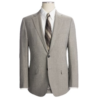 Lux-ID 202442  Isaia Fancy Solid Suit - Stretch Wool (For Men)
