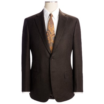 Lux-ID 202433  Isaia Heathered Solid Suit - Wool-Cashmere (For Men)