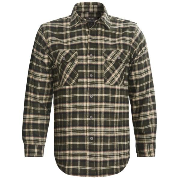 Moose Creek Brawny Plaid Shirt 9 oz. Flannel, Long Sleeve (For Men)