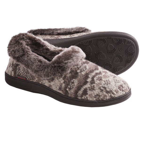 Acorn Chinchilla Slippers Wool Blend (For Women)