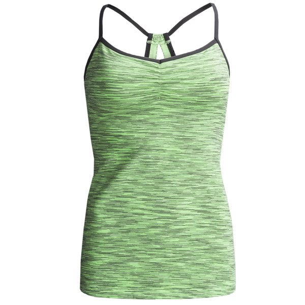 lucy Heart Center Tank Top - Built-In Bra (For Women)