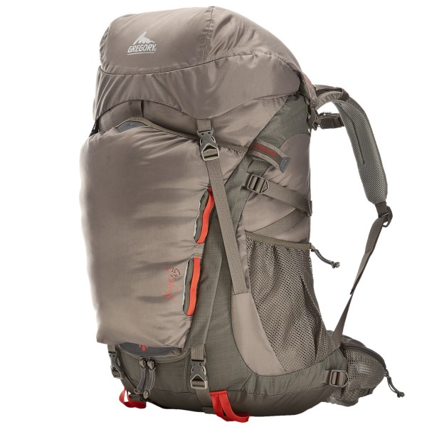 CLOSEOUTS . Designed especially for women, Gregory's Sage 45 backpack brings a lightweight, comfortable carry to your backcountry experience with a ventilating, moisture-wicking Intuition 3D suspension system and a 4mm gauge wire wishbone internal frame. Available Colors: CYPRESS GREEN, ROSEWOOD RED, SEPIA GRAY, TULE BLUE. Sizes: XS, S, M.