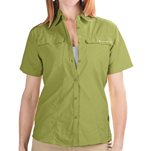 CLOSEOUTS . The Redington Coastal Technical Guide shirt dries quickly and features moisture-wicking VersiWick fabric and UPF 30  VersiSun protection. Available Colors: ASH, BUTTER, HIBISCUS, LIGHT MINT, TURTLE GREEN. Sizes: S, M, L, XL.