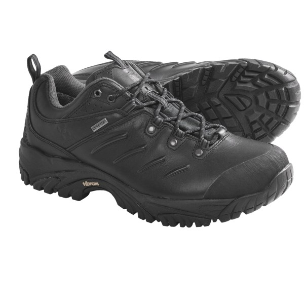 CLOSEOUTS . With beefy construction, a heat-moldable insole and a Gore-Texand#174; waterproof breathable membrane, Haglofs Trail Q trail shoes provide the support you need to move through technical terrain with ease. Available Colors: BLACK. Sizes: 4, 4.5, 5, 5.5, 6, 6.5, 7, 7.5, 8, 9, 9.5, 10.