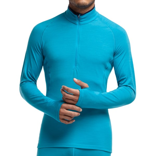 Icebreaker GT200 Sprint Zip Neck Base Layer Top - Lightweight, Merino Wool, Long Sleeve (For Men)