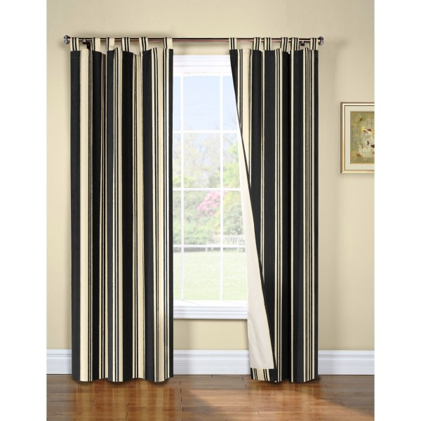 "Overstock . Reduce your energy bill in winter and summer with Thermalogicand#39;s Weathermate broad stripe curtains, made from a washable cotton stripe with insulated backing that cools in summer, warms in winter, and makes your room darker and less noisy year round. Available Colors: BLACK, KHAKI, NAVY, TERRACOTTA. Sizes: 84""."