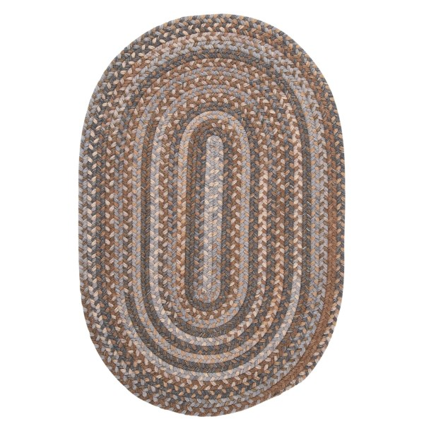 Colonial Mills Millworks Oval Rug - Braided Wool, 5x8'