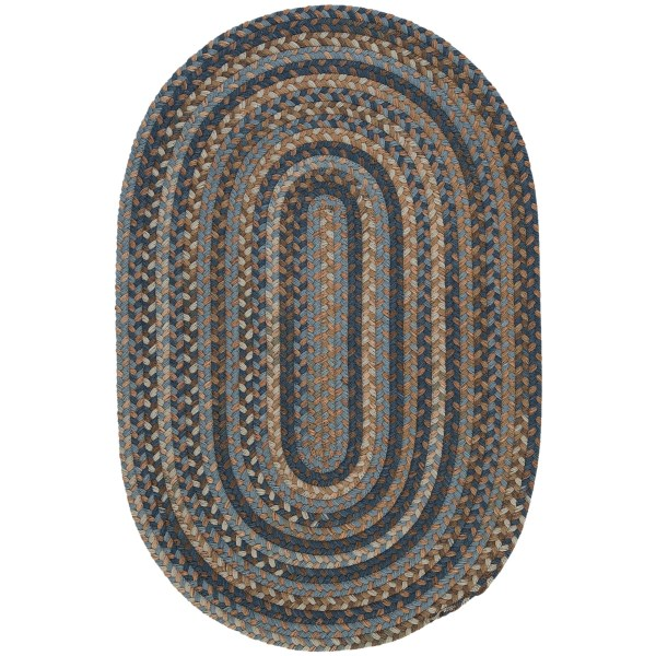 Colonial Mills Millworks Oval Rug - Braided Wool, 2x3'
