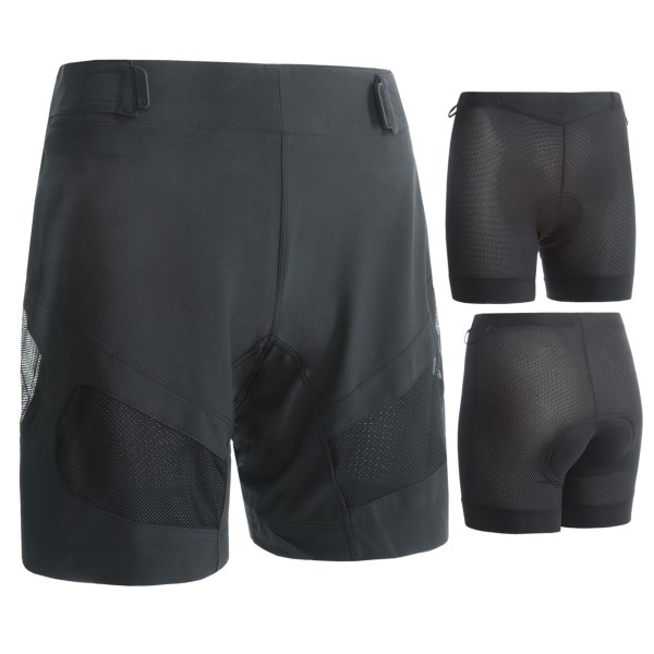 CLOSEOUTS . A wide waistband and quick-drying stretch fabric make Pearl Izumiand#39;s 2012 Divide shorts a great choice for singletrack and less technical terrain. Available Colors: BLACK, BLACK/BLACK KALEIDO, WHITE/BLACK KALEIDO. Sizes: XS, S, M, L, XL, 2XL.