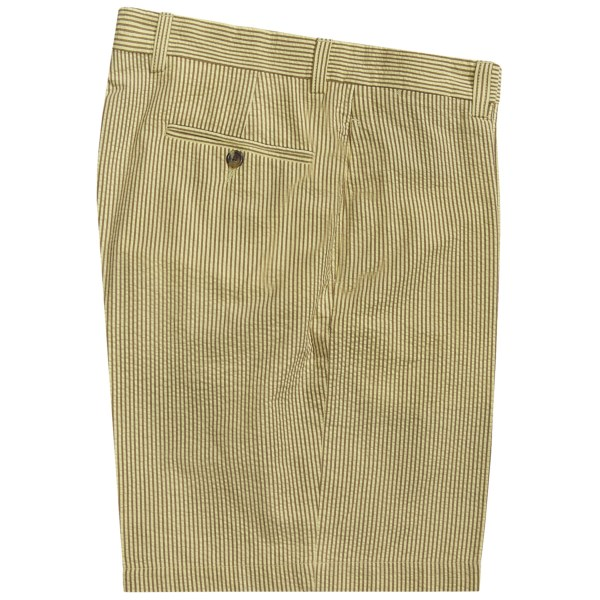 Charleston Khaki by Berle Cotton Shorts - Flat Front (For Men)