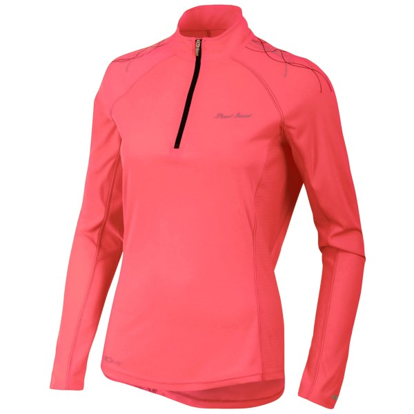 CLOSEOUTS . You want to wear lightweight, breathable clothing but donand#39;t want to overheat under layers of sun protection. Pearl Izumiand#39;s Infinity In-R-Cooland#174; shirt features technology to help your skin breathe while protecting it from the sun with UPF 50 . Available Colors: DAHLIA/BLACK, GREEN FLASH/WHITE, SCREAMING YELLOW, WHITE/LIME, PARADISE PINK, BLACK/PARADISE PINK, ORCHID/SCUBA BLUE, BLACK. Sizes: XS, S, M, L, XL.