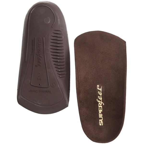 Superfeet Delux Dress Fit 3/4 Support Insoles (For Men)