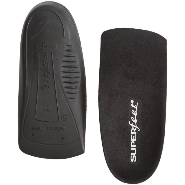 CLOSEOUTS . Designed for high heels and career shoes, Superfeetand#39;s Delux Dress Fit 3/4 support insole keeps you comfortable all day long with cushioned, biomechanical support that counters the heel position and redistributes weight inside the shoe. Available Colors: SEE PHOTO. Sizes: C, D, E.