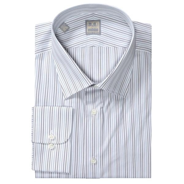 Ike Behar Gold Label Stripe Shirt - Long Sleeve (For Men)