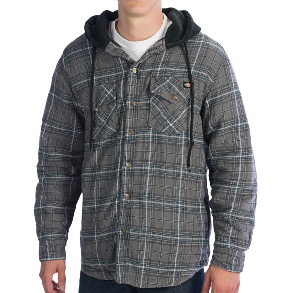 Dickies Flannel Hooded Shirt - Long Sleeve (for Big Men)