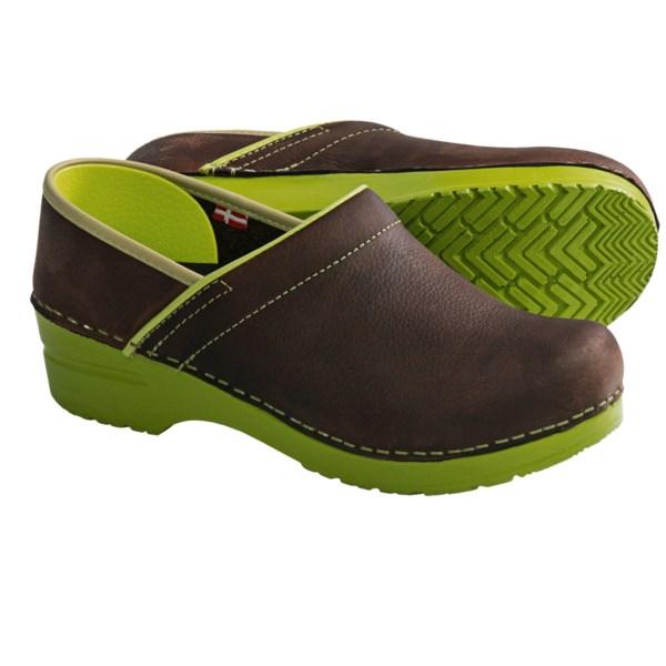 Sanita Professional Zita Clogs - Leather, Closed Back (For Women)