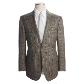 Lux-ID 202418  Isaia Olive Glen Plaid Suit - Wool (For Men)