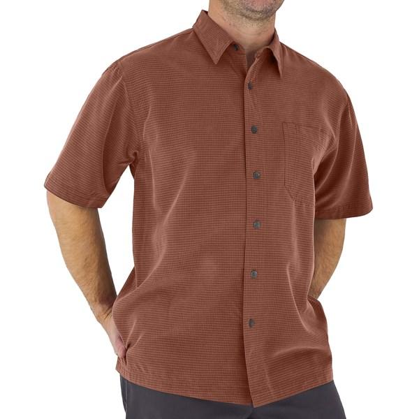 Royal Robbins Desert Pucker Shirt   UPF 25+  Short Sleeve (For Men)   HENNA (S )