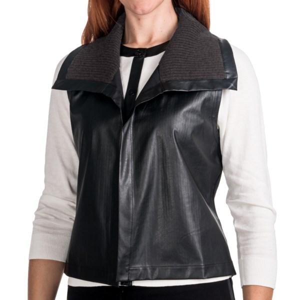 August Silk Pleather Vest (for Women)